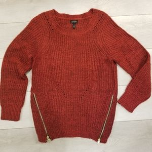 Jessica Simpson - Red Sweater with zipper detail